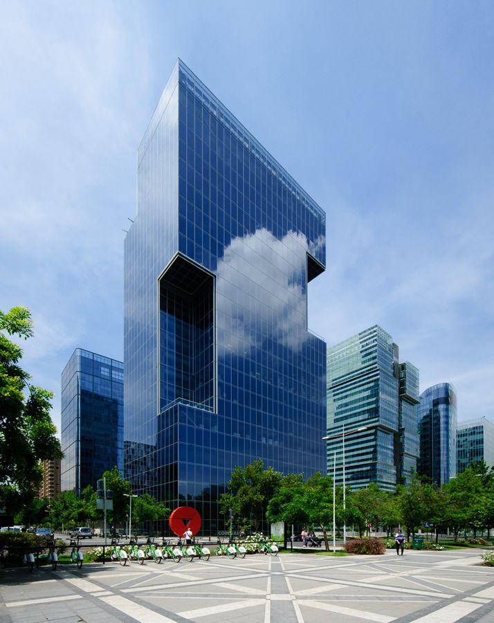 Edificio CorpGroup, Santiago, Chile. Foto_Fegophoto