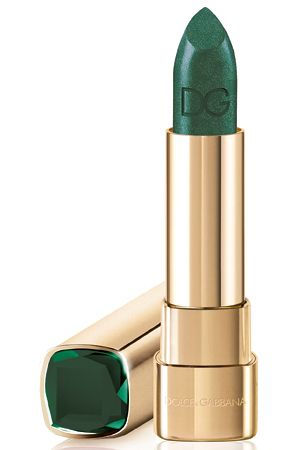 Dolce & Gabanna green lip color.  Wear it if you dare!