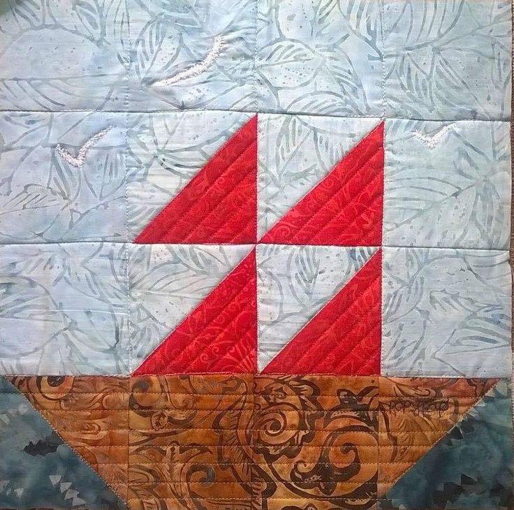 "Quilting swap: ""Wide Sea"" / Ανταλλαγή με θέμα ""Θάλασσα Πλατιά"" | Mania for quilts"