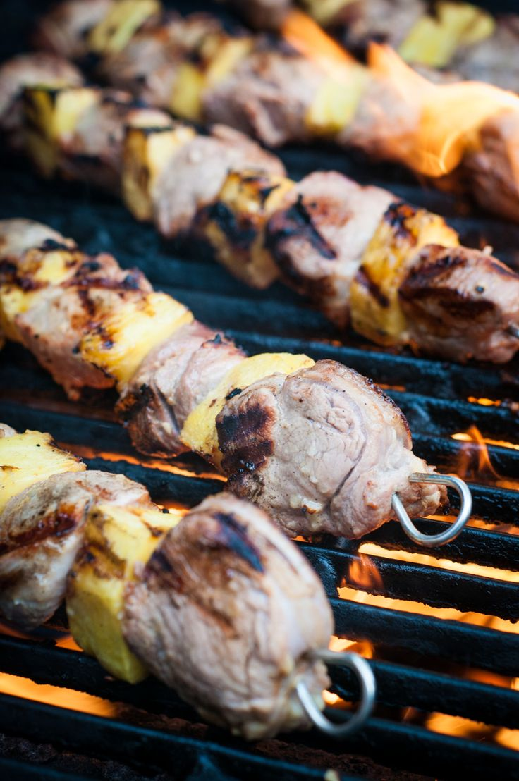 Marinated pork tenderloin and pineapple kabobs. Juicy, citrusy, quick and easy for a busy weekday dinner. Marinate in the morning for a speedy grilling in the evening. Everyone will thank you!