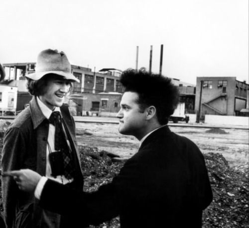 David Lynch and Jack Nance on-set of Eraserhead (1977) (okay, not Twin Peaks)