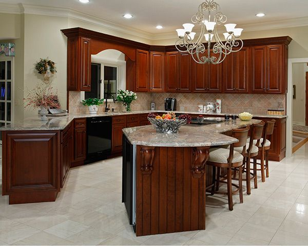 Revere Pewter Kitchen With Cherry Cabinets Functionalities Net Kitchen Design Kitchen Remodel Refacing Kitchen Cabinets Diy
