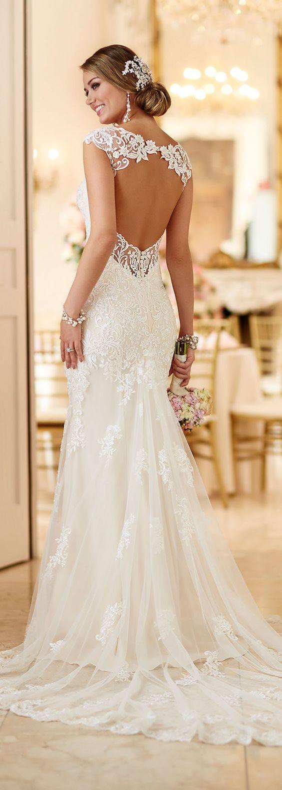 Best wedding dresses for under 1000  Gorgeous backless floral detail white wedding dress  Together