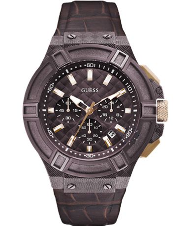 GUESS Chrono Brown Leather Strap Μοντέλο: W0408G2 Η τιμή μας:219€  http://www.oroloi.gr/product_info.php?products_id=39892