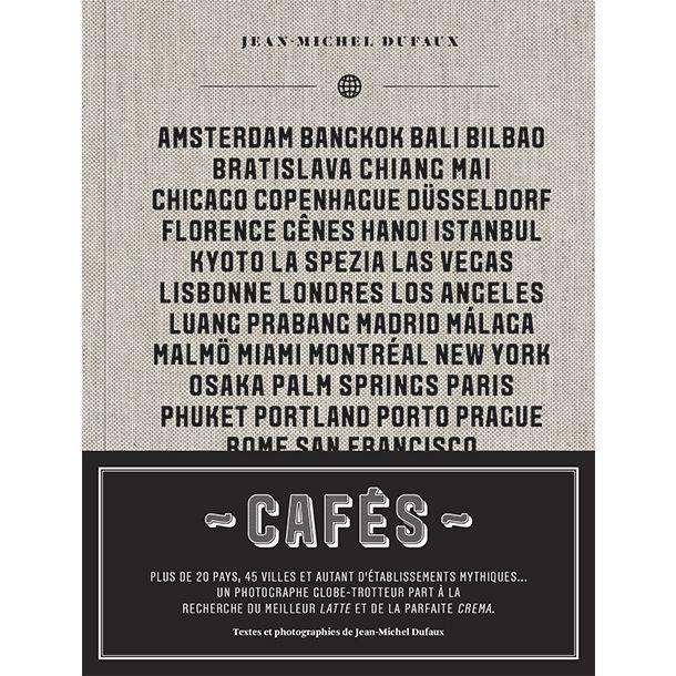 Plus de 20 pays, 45 villes et autant d'établissements mythiques…  Un photographe globe-trotteur part à la recherche du meilleur latte et de la parfaite crema. Caféinophile invétéré et photographe à l'oeil incisif, Jean-Michel Dufaux nous propose ici un tour du monde à travers les portes de ses plus grands cafés.  En librairie le 7 octobre 2015.  http://editions-cardinal.ca/ca_fr/cafes-2075.html
