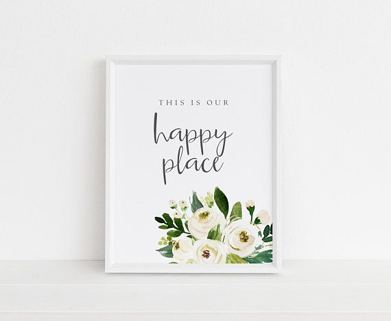 This Is Our Happy Place Wall Art Pdf Printable Inpsirational Etsy Wall Art Quotes Wall Printables Wall Decor Quotes