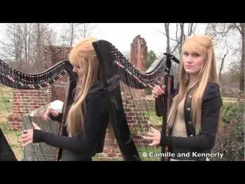 Zombie - The Cranberries Electric Harp Duet - Camille and Kennerly, Harp Twins