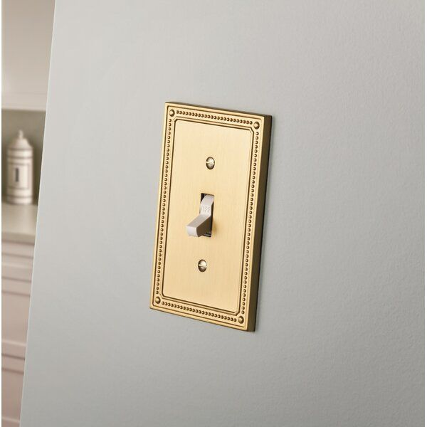 Classic Beaded 1 Gang Toggle Light Switch Wall Plate Plates On Wall Switch Plate Covers Franklin Brass