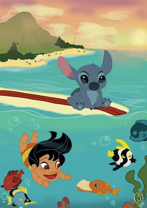Lilo & Stitch I looove this. So cute