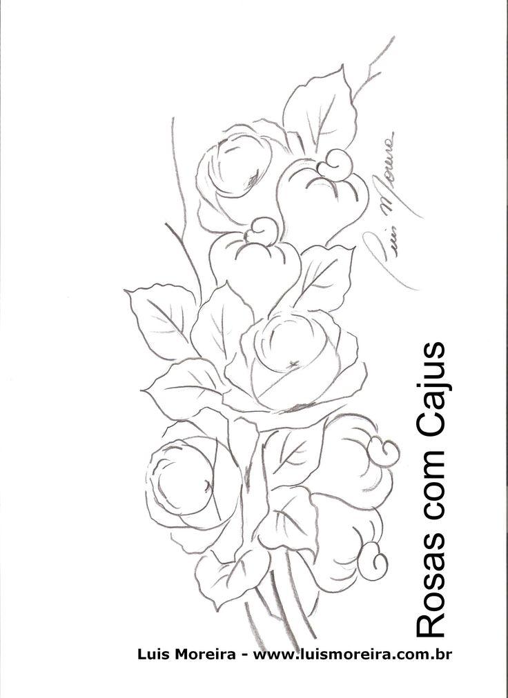 Atelier arte unica: Riscos de flores e frutas por Luis Moreira