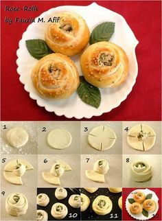 How to Make Beautiful and Delicious Rose Rolls  #food #recipe #food_art
