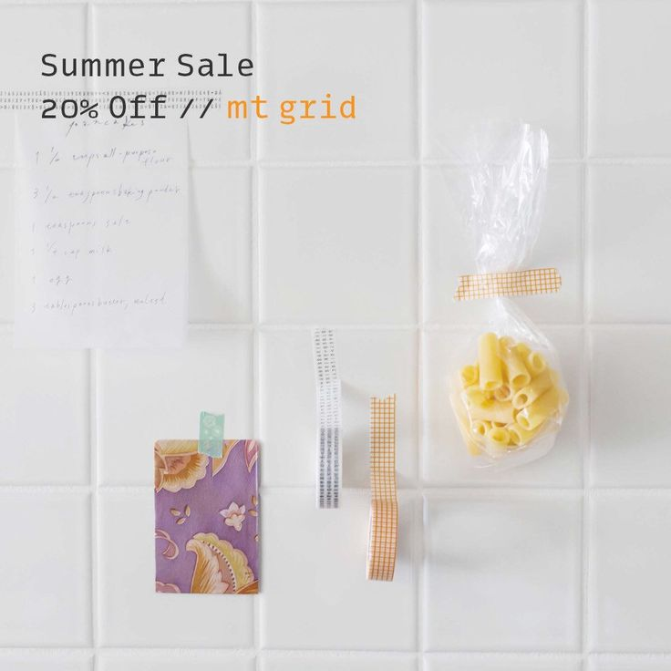 Now on Sale // Enjoy 20% off all colorful MT washi tape