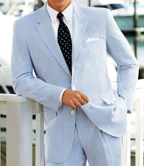 Seersucker Summer Suit, personally i think searsucker suit jacket with white pants or the pants with a different blazer but love love love searsucker