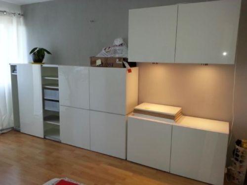 Ikea Komplettpaket BESTA/FRAMSTA 4x Stell-/Hängeschränke + Kommode++++ Weiß/Hoch in in Reutlingen | eBay