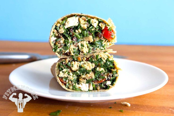Try this Chopped Chicken Salad Wrap (for Leftover Chicken) from the FitMenCook app