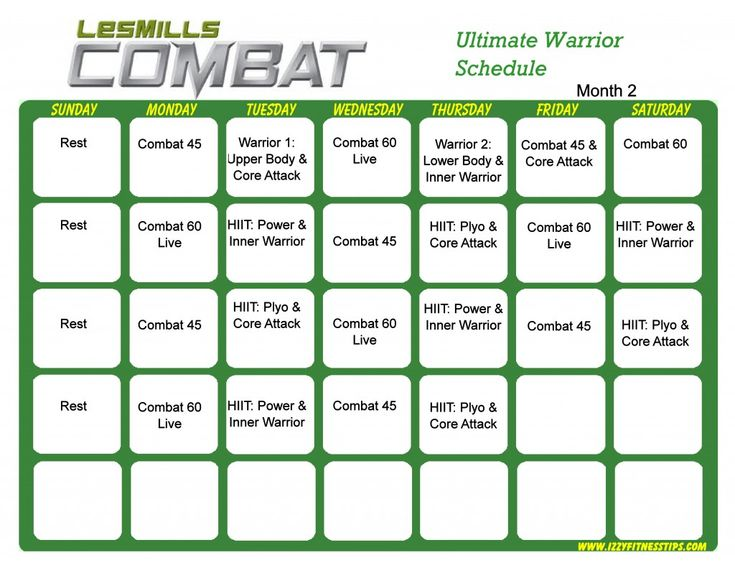 Les Mills Combat Ultimate Warrior Month 2