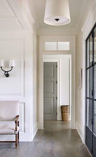 Love the look of medium grey color door in white pallet.