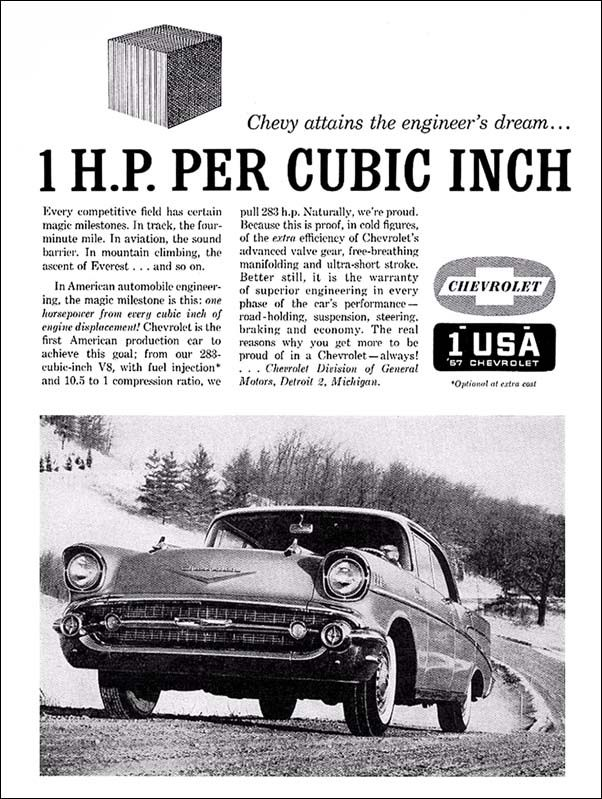 '57 Chevy ad