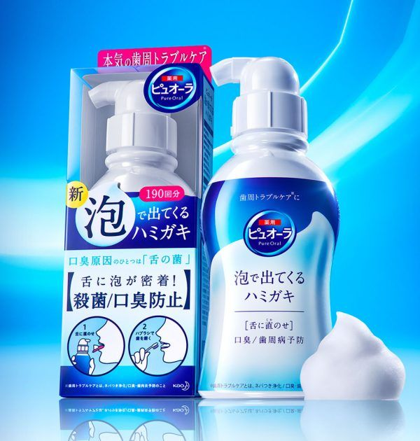 Kao Pure Oral Toothpaste Mouth Wash Bubbles 190ml Made In