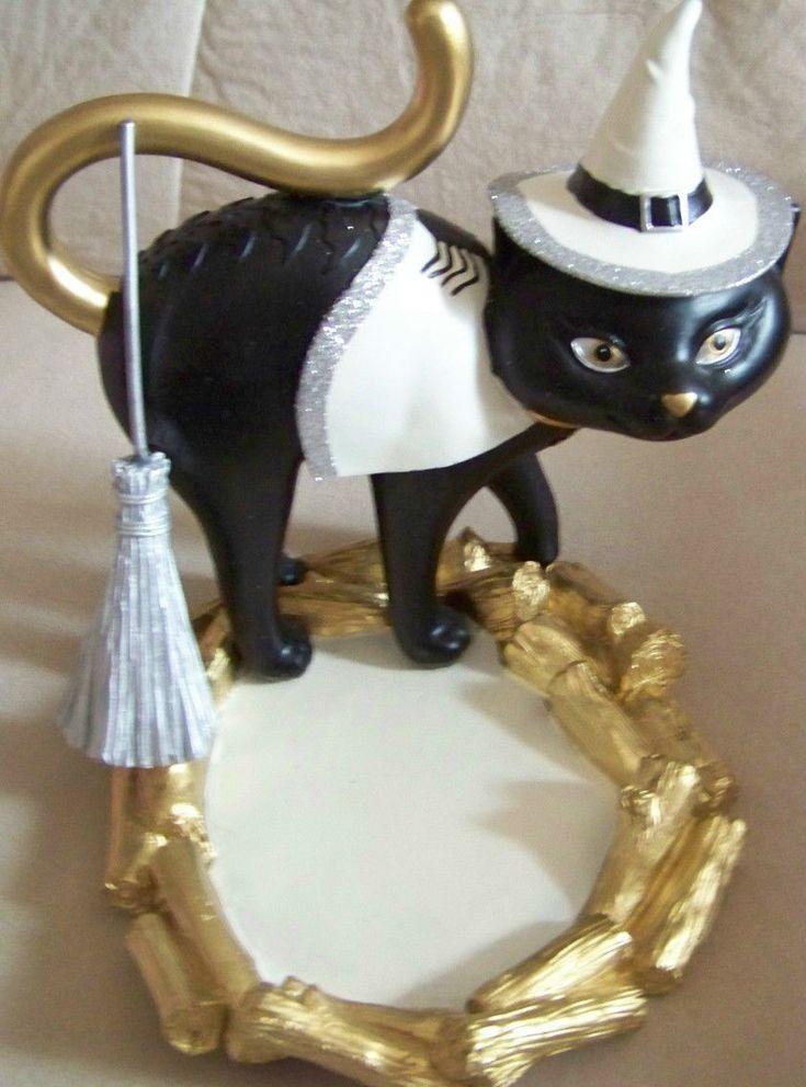 2015 Yankee Candle Halloween SOPHIA THE CAT Jar Holder Holder! RARE!! | eBay
