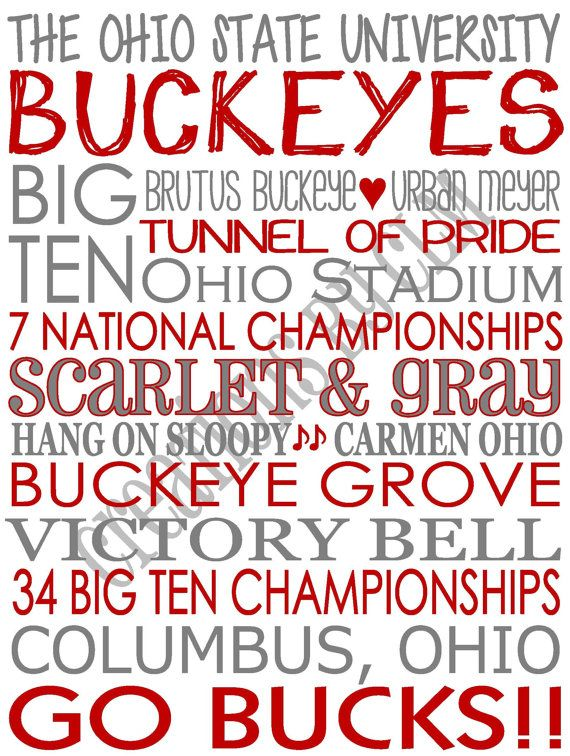 Subway Art The Ohio State University Buckeyes Rustic Looking Canvas Home Decor