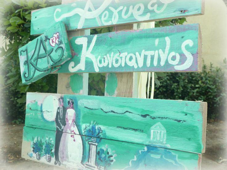 #wedding #signage #athens #greekwedding #greek #weddingplanner #dreamsinstyle