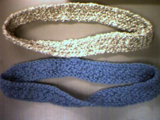 sarah-marie's knitted mobius bands