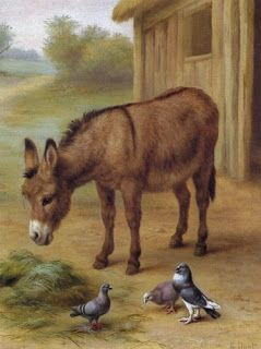 The Donkey And The Pigeons~ Edgar Hunt ♥•.¸¸.•´¯`•.♥