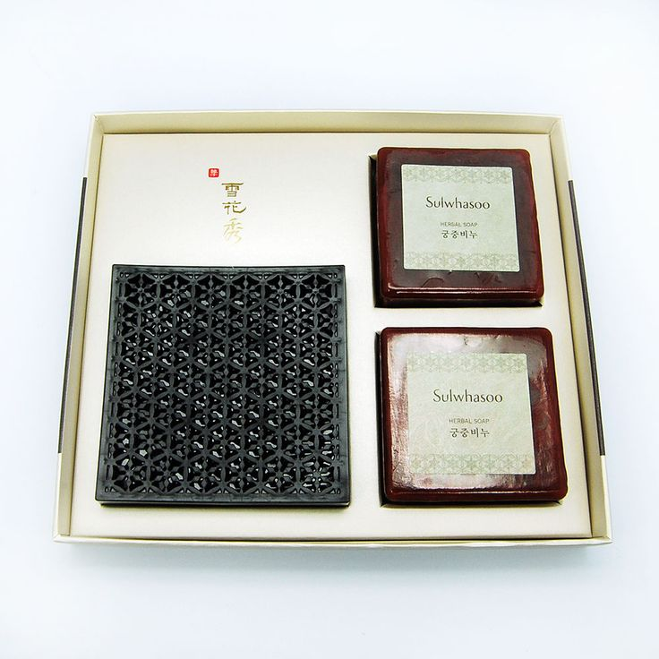 Herbal Soap 100g*2ea+Pedestal Cleanser Gift Set Red Ginseng Soap, Korea Cosmetic #AmorepacificSulwhasoo