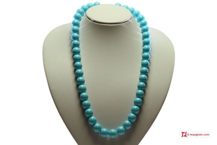 Extra #Turquoise #Necklace 14mm in Gold 18K [various lengths] #Collana #Turchese Extra 14mm in Oro 18K [varie lunghezze] #jewelery #luxury #trend #fashion #style #italianstyle #lifestyle #gold #silver #store #collection #shop #shopping #showroom #mode #chic #love #loveit #lovely #style #beautiful #pretty #madeinitaly #bestoftheday #necklace #necklaceforsale