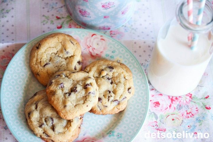 Chewy Chocolate Chip Cookies | Det søte liv
