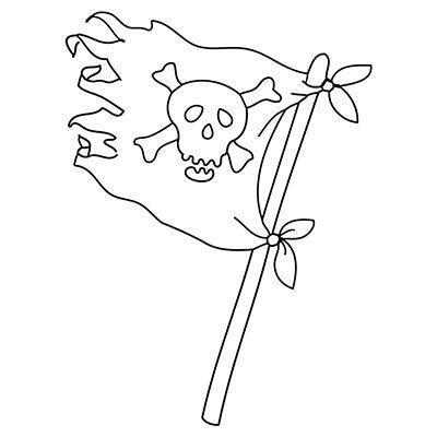 """Marabu Window Color Malvorlage """"Piraten Flagge"""" http://marabu.com/k/pf   #Marabu #WindowColor #Malvorlage"""