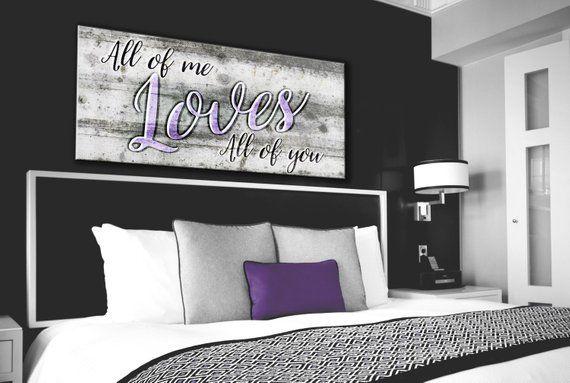 romantic couple art bedroom canvas