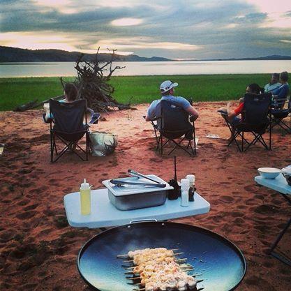 A crayfish braai on the beach? We say YES - Bumi Hills, #Zimbabwe.  http://theexplorerclubafrica.com/properties/bumi-hills-safari-lodge-spa.php