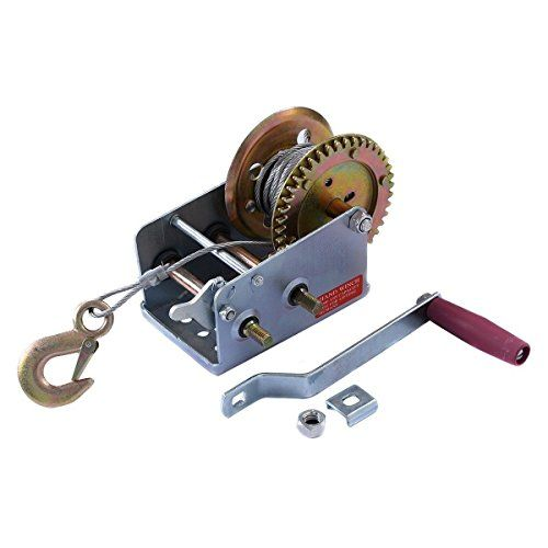 2000lb 1 Ton Hand Crank Steel Gear Cable Wire Winch Boat ATV Trailer w/Hook ;supply_from:ideacharms. For product info go to:  https://www.caraccessoriesonlinemarket.com/2000lb-1-ton-hand-crank-steel-gear-cable-wire-winch-boat-atv-trailer-whook-supply_fromideacharms/