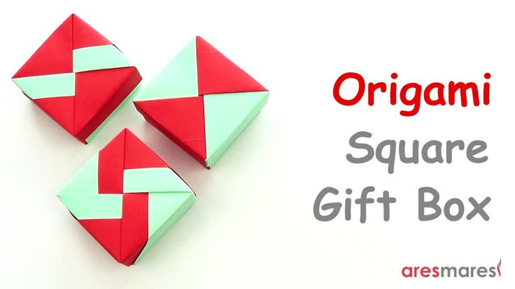 Origami Square Gift Box (3 lid variations) (easy - modular) Simple and easy to make, square gift box with 3 lid variations.  #origami #unitorigami #handmade #colorful #origamiart #papercraft #paperfolding #paperfold #paperart #papiroflexia #origamifolding #instaorigami #interior #instapaper #оригами #折り紙  #ユニット折り紙 #ハンドメイド #カラフル