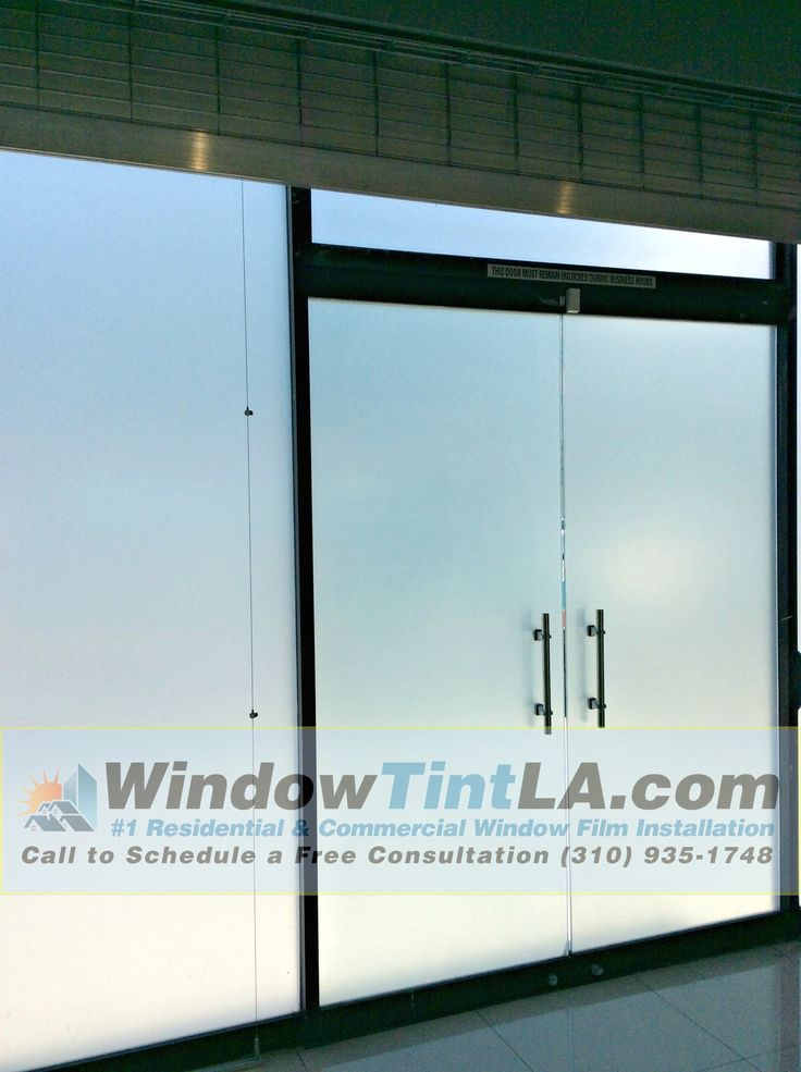 Image of windows after frost film has been applied.