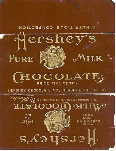 Vintage Hershey's Chocolate wrapper