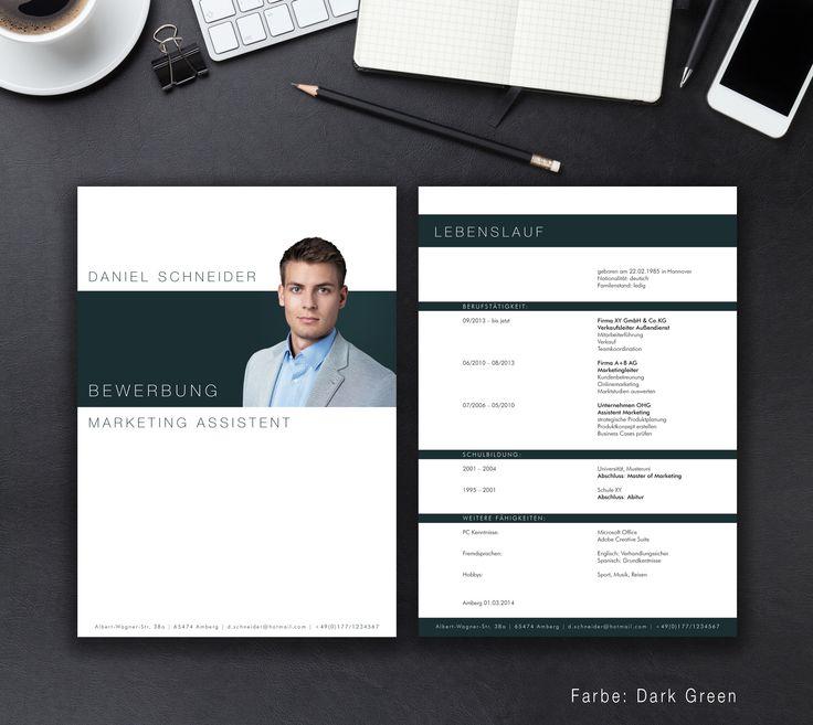 """Unsere Bewerbungsvorlage """"Business"""" in der Farbe Dark Green. Mit der stilsicheren Vorlage """"Business"""" heben sie sich von allen anderen ab und zeigen, dass kein Weg an Ihnen vorbeiführt. Sie erhalten von uns ein Deckblatt, Anschreiben, Lebenslauf, Motivationsschreiben und eine Abschlussseite. Die Datei bekommen Sie als fertige Pages- oder Word-Datei inklusive Platzhaltertext mit Hinweisen."""