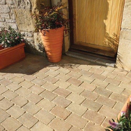 Bradstone, Woburn Rumbled Block Paving Fossil Buff 100 x 134 x 50 - 8.98m2 Per Pack - Premium - Block Paving