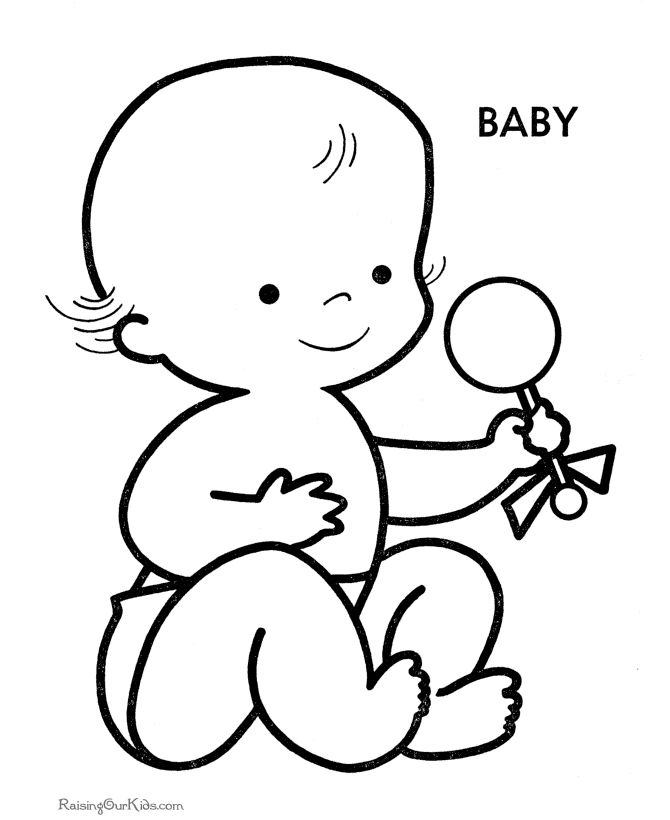 baby boy printouts | Preschool coloring pages and sheets ...