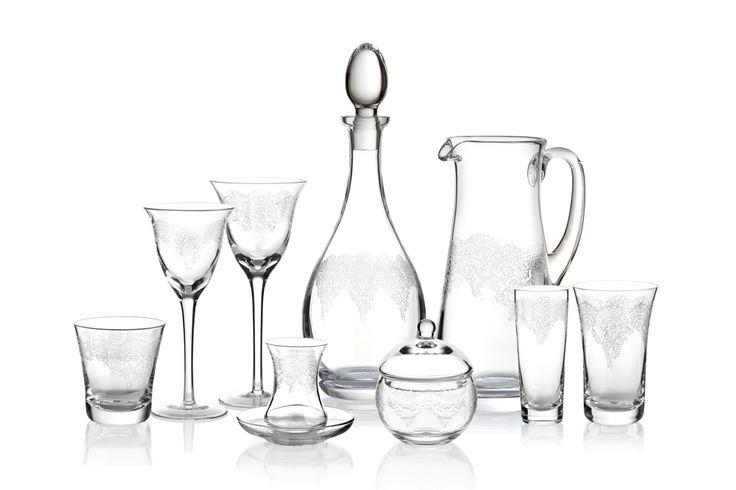 Grace Cam Kadeh Serisi / Glass Set #bernardo #tabledesign #glass