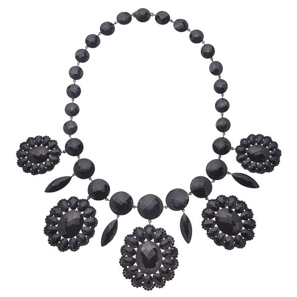 Magnificent French Jet Necklace! Shiver with Delight! A Jewel of Blockbuster Proportions!