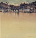 Coastal Village by William Blamire Young