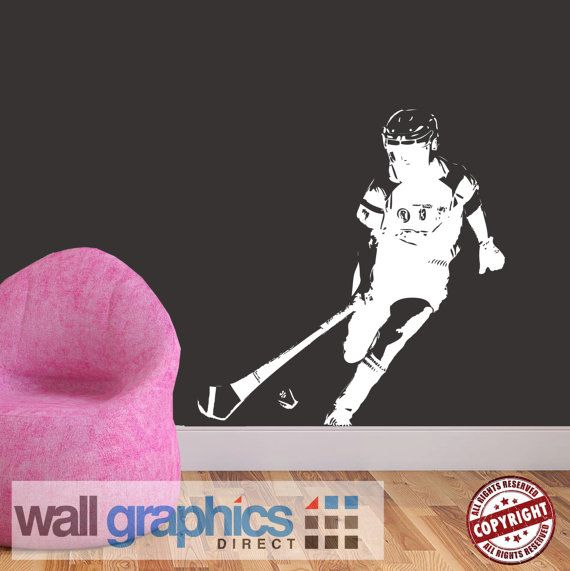 Camogie Player GAA Gaelic Removable Wall by wallgraphicsdirect