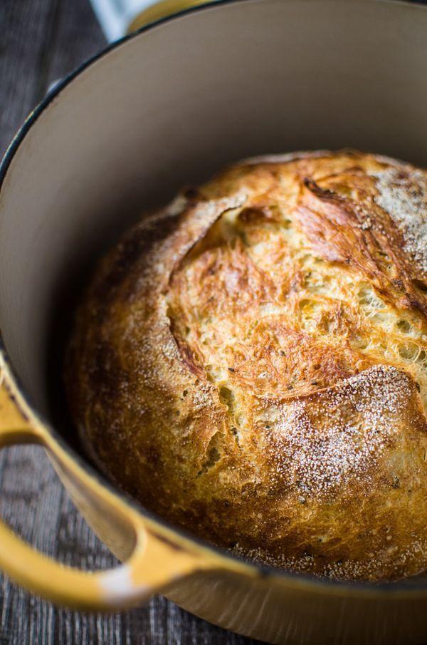 Meyer Lemon Rosemary Bread - in a Dutch Oven   Recipe ...