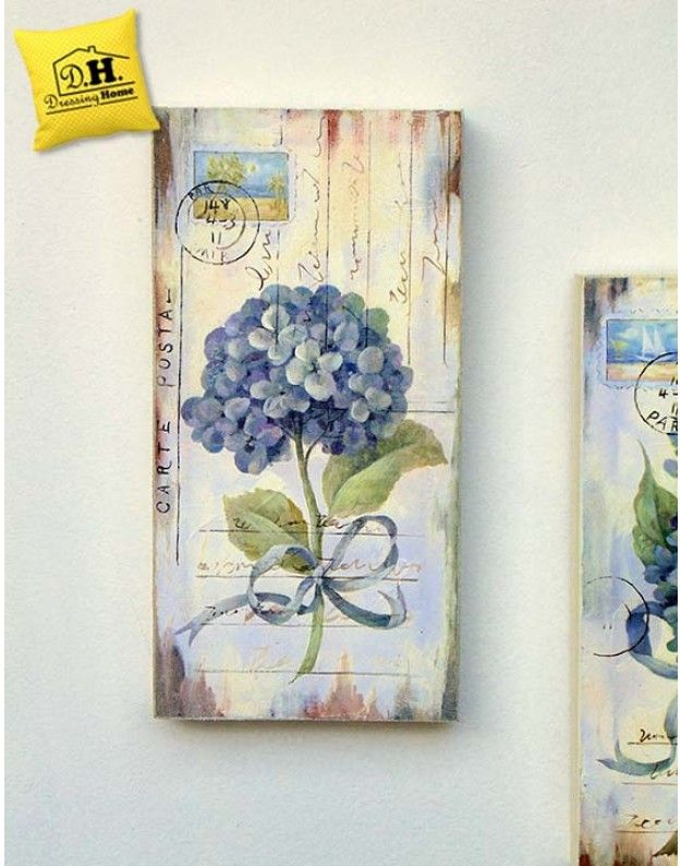 Quadro Angelica Home & Country Ortensie Seconda Variante