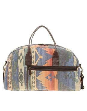 ASOS Hand Woven Leather Trim Holdall
