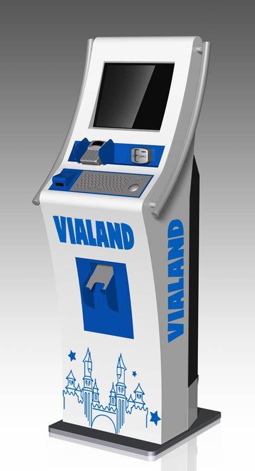 Avrupa'nın en büyük tema parkı olan Vialand'in ziyaretçileri Kiosk İnnova'nın bilet satış kioskları, bilgilendirme ekranları ve dokunmatik ekran sistemlerini kullanıyor.