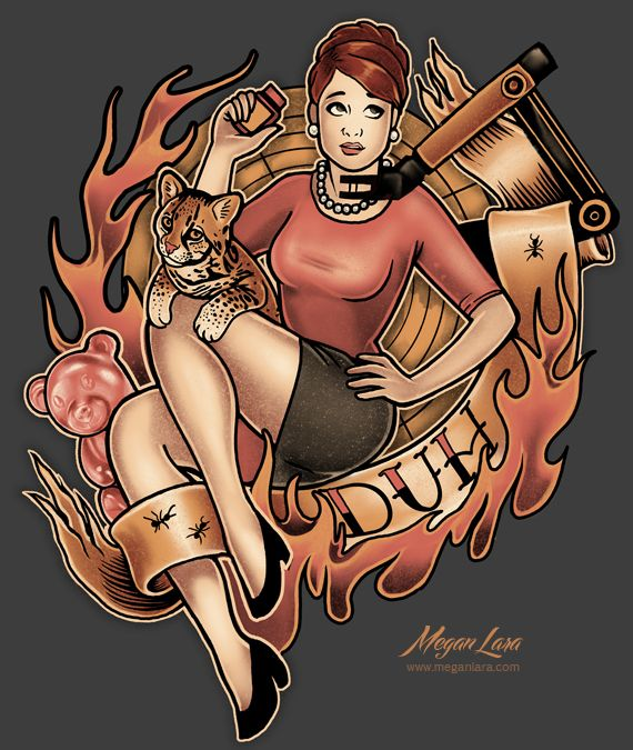 Megan Lara: Fine Art & Illustration - DUH! by Megan Lara This Cheryl-inspired design is...